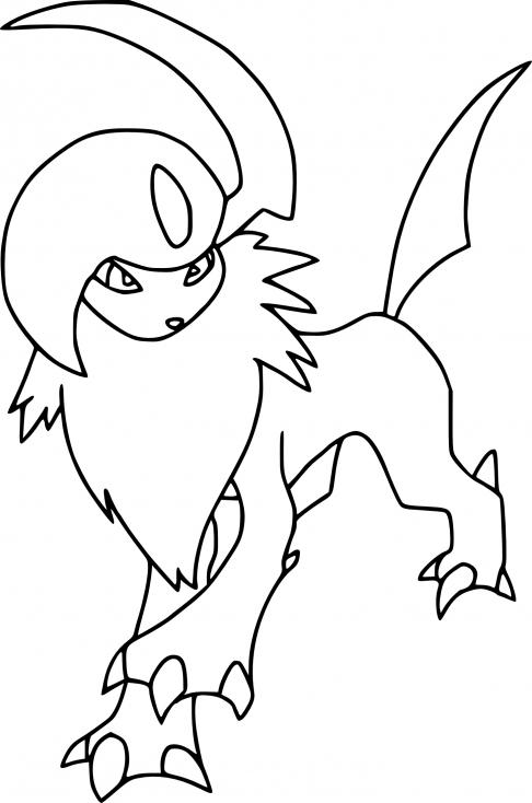 Coloriage Absol Pokemon