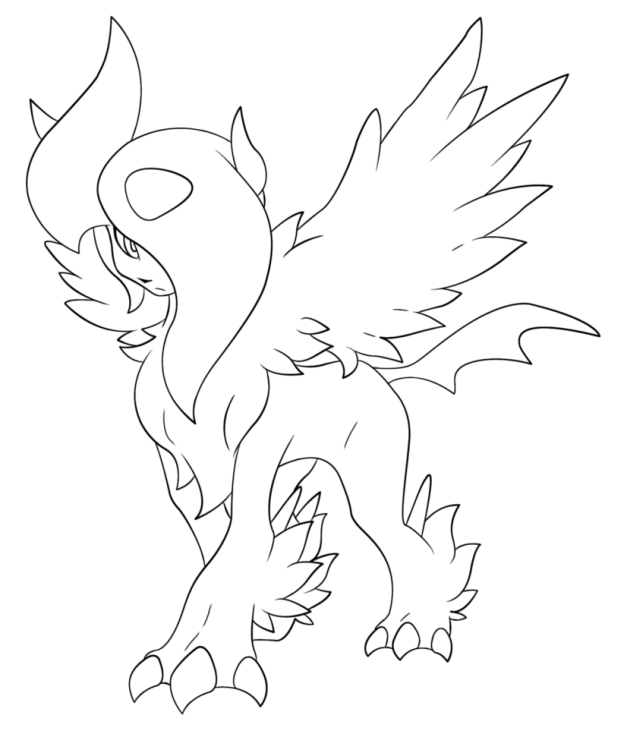 Coloriage Méga-Absol Pokemon