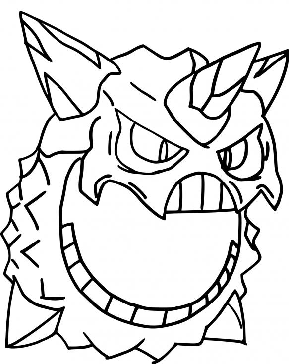 Coloriage Méga-Oniglali Pokemon