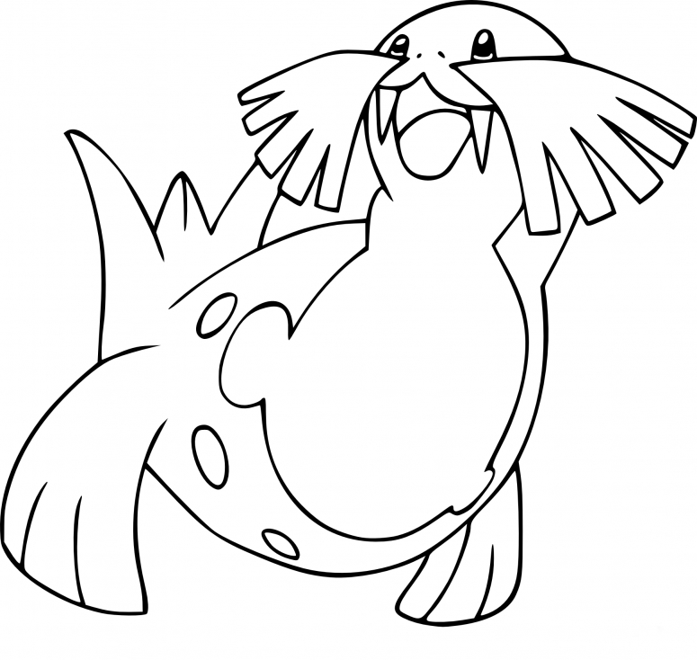 Coloriage Phogleur Pokemon