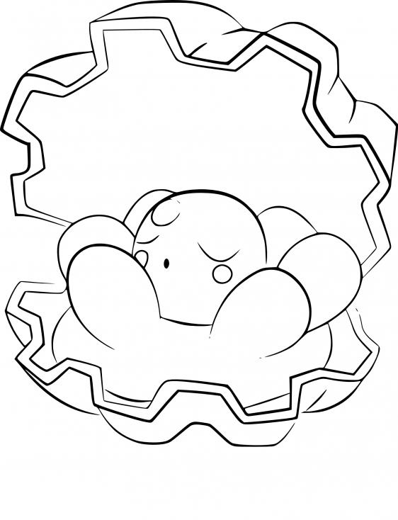 Coloriage Coquiperl Pokemon