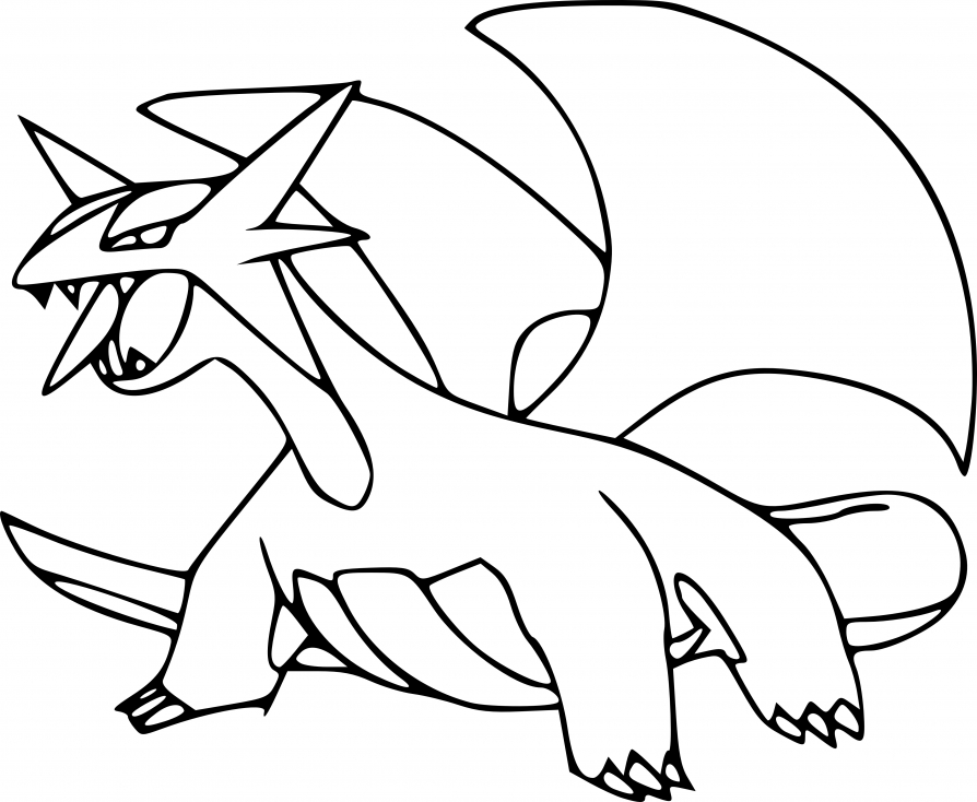 Coloriage Drattak Pokemon