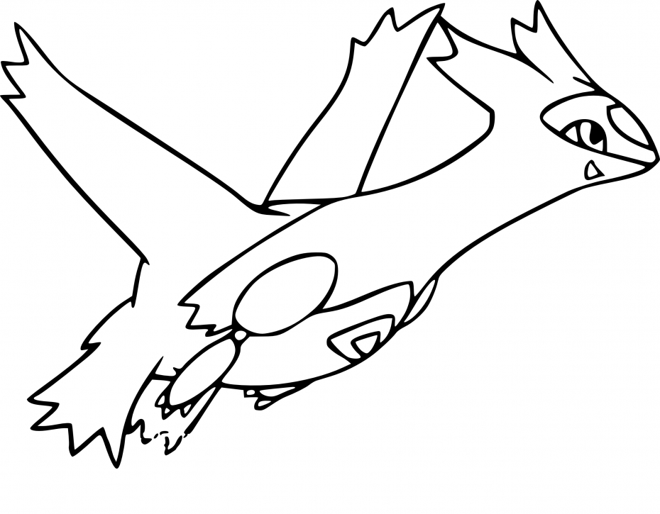 Coloriage latias pokemon imprimer - Dessin pokemon legendaire ...