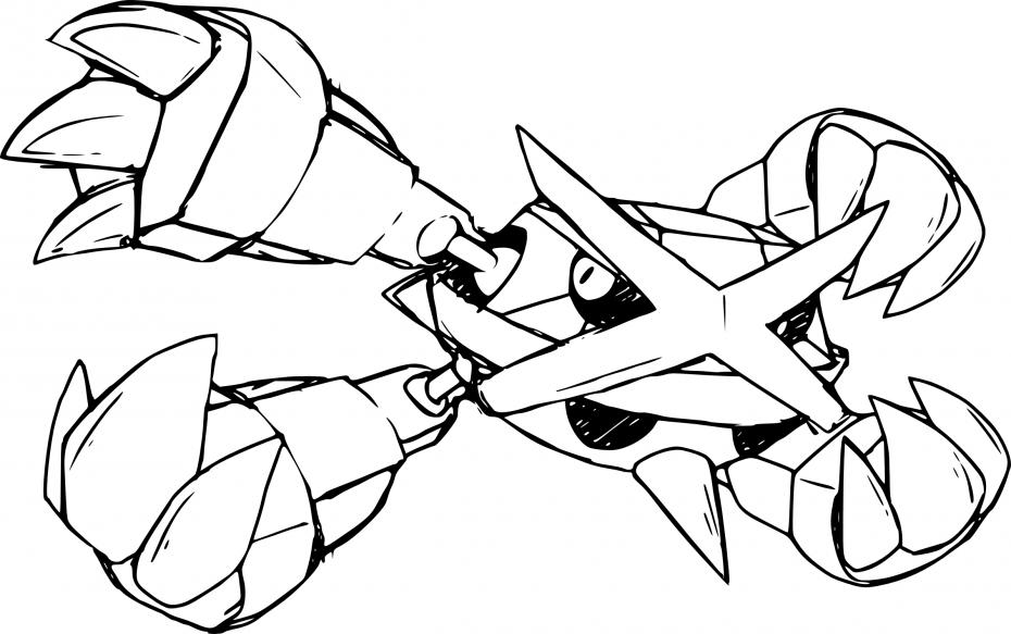 Coloriage Méga-Métalosse Pokemon