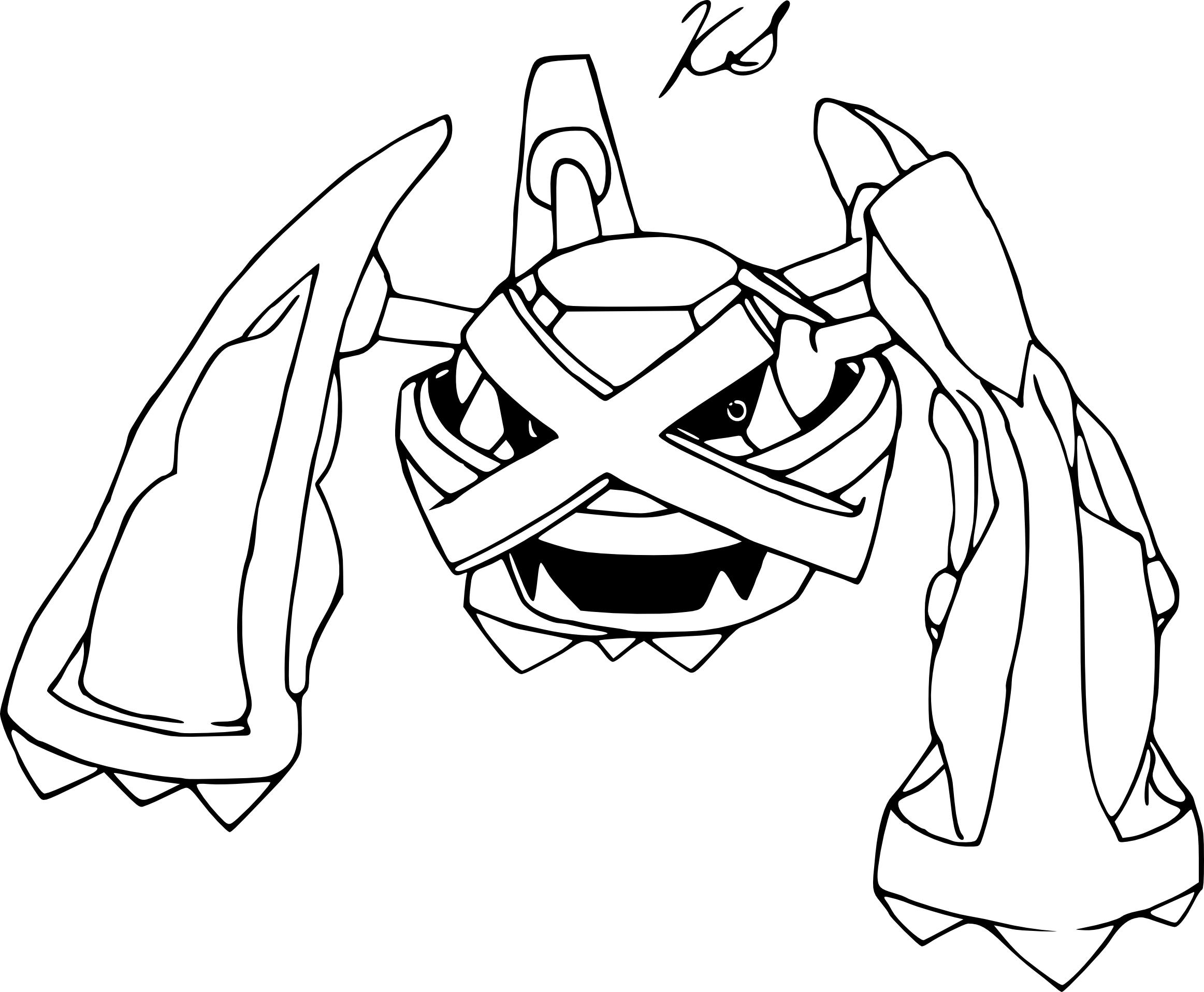 Coloriage Métalosse Pokemon à imprimer
