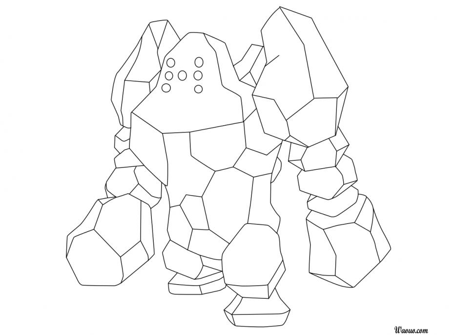 Coloriage Regirock Pokemon