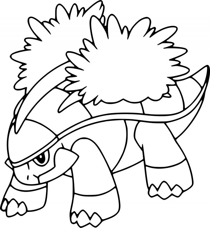 Coloriage Boskara Pokemon