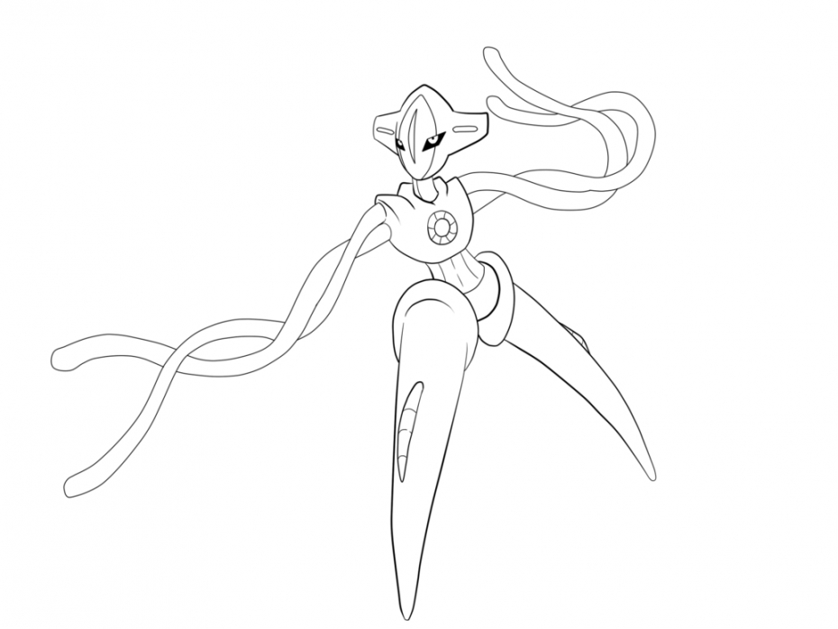 Coloriage Deoxys Pokemon