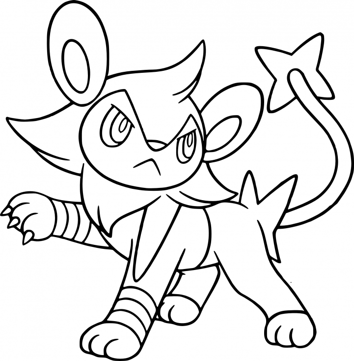 Coloriage Luxio Pokemon