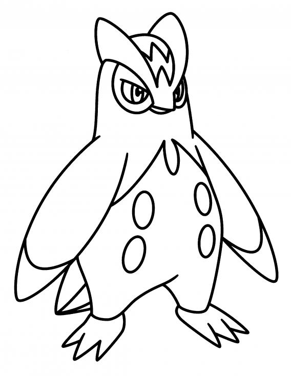 Coloriage Prinplouf Pokemon
