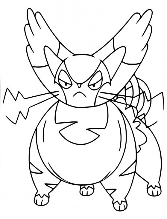 Coloriage Chaffreux Pokemon