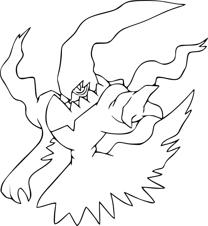 Coloriage Darkrai Pokemon
