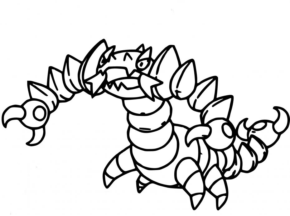 Coloriage Drascore Pokemon