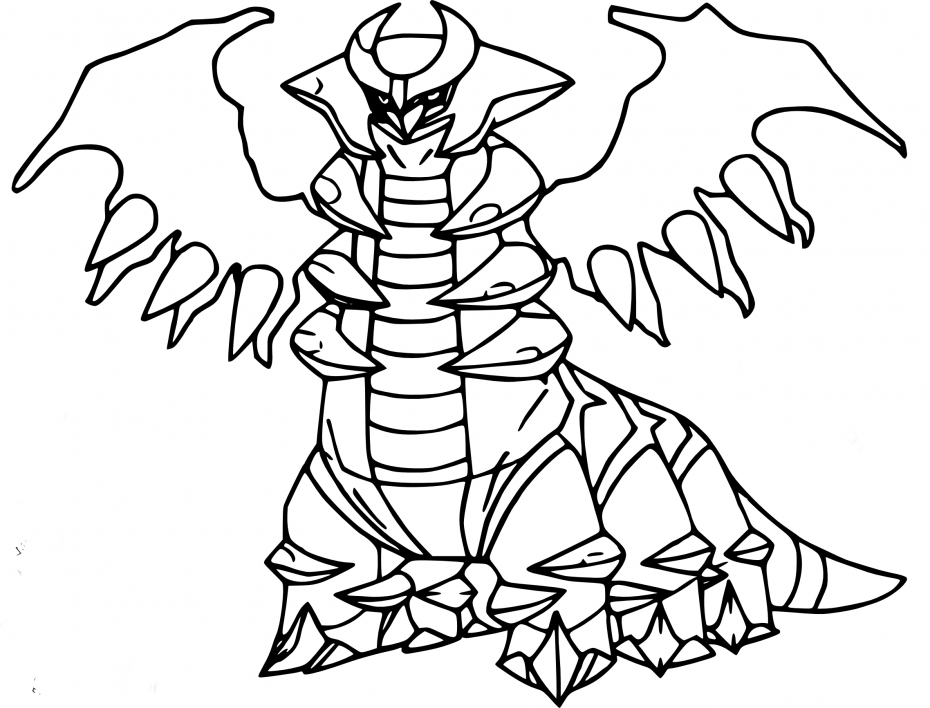 Coloriage Giratina Pokemon