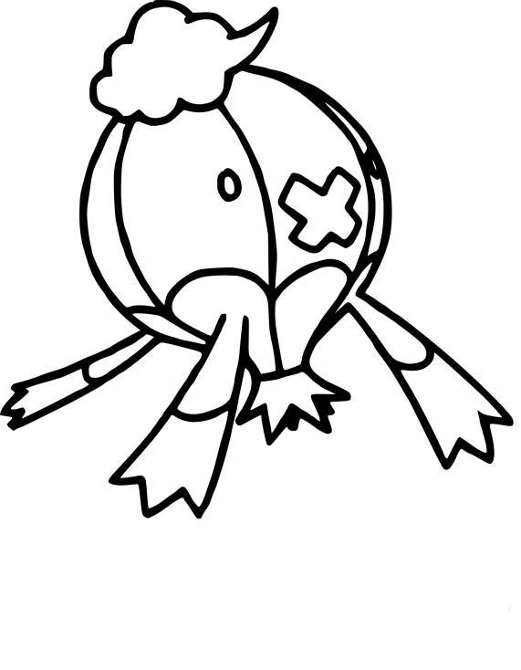 Coloriage Grodrive Pokemon