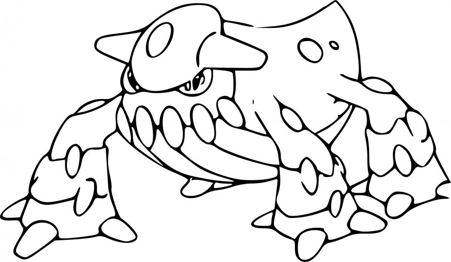 Coloriage Heatran Pokemon