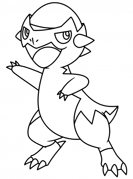 Coloriage Kranidos Pokemon