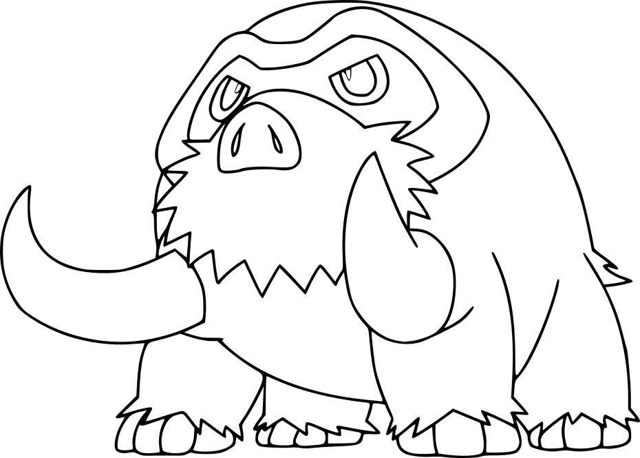Coloriage Mammochon Pokemon