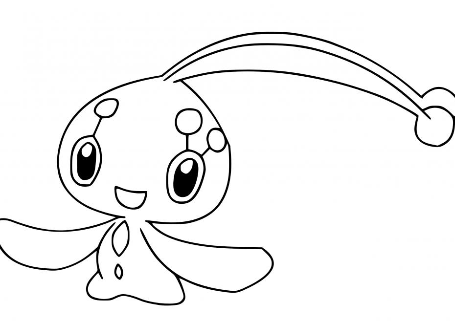 Coloriage Manaphy Pokemon