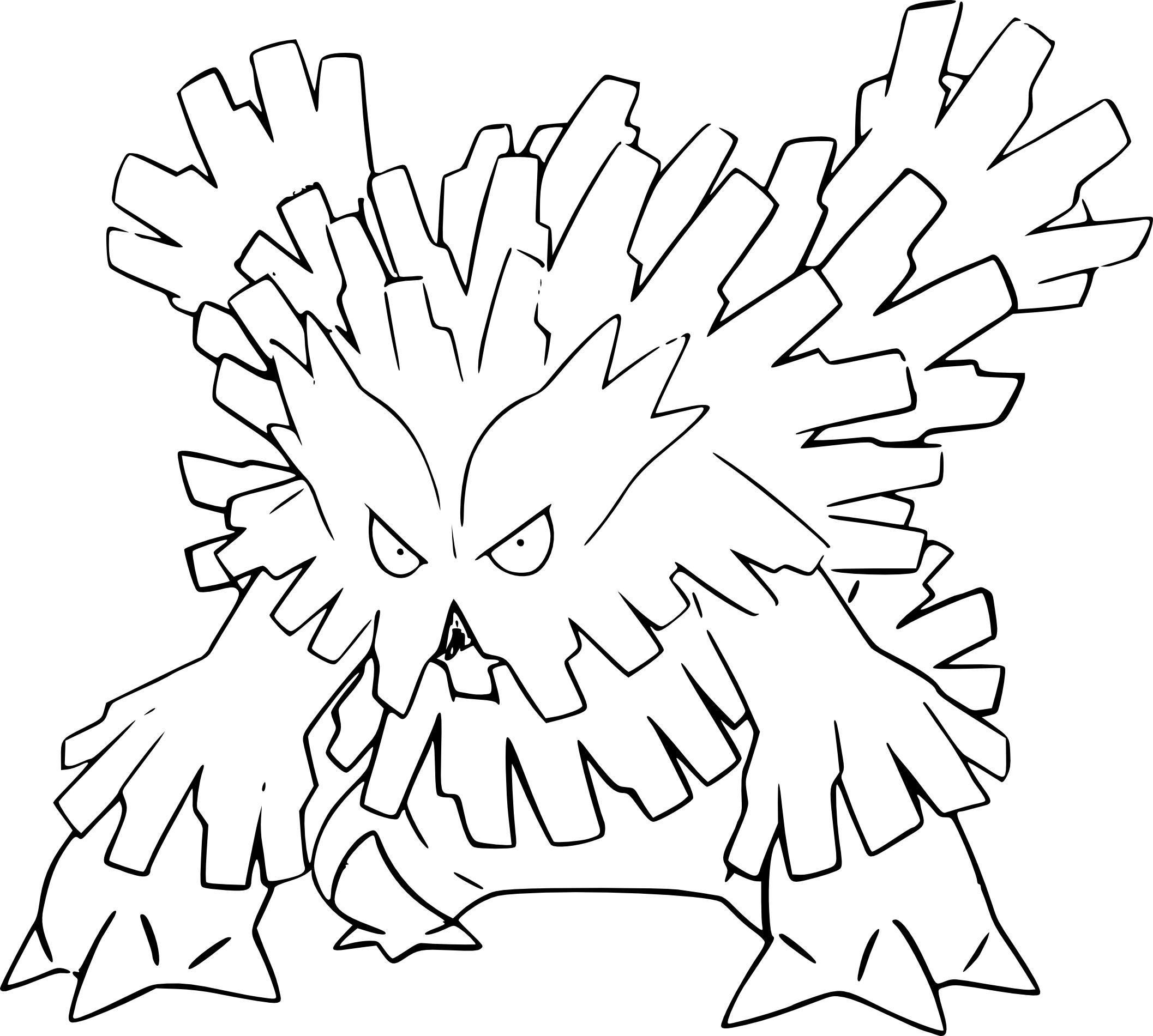 Coloriage Mega Blizzaroi Pokemon A Imprimer