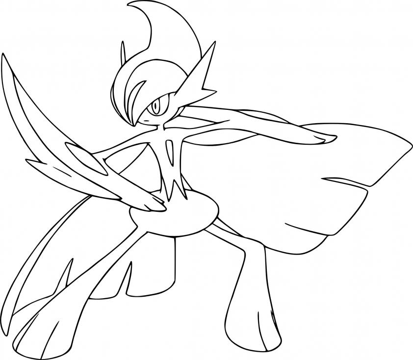 Coloriage Méga-Gallame Pokemon
