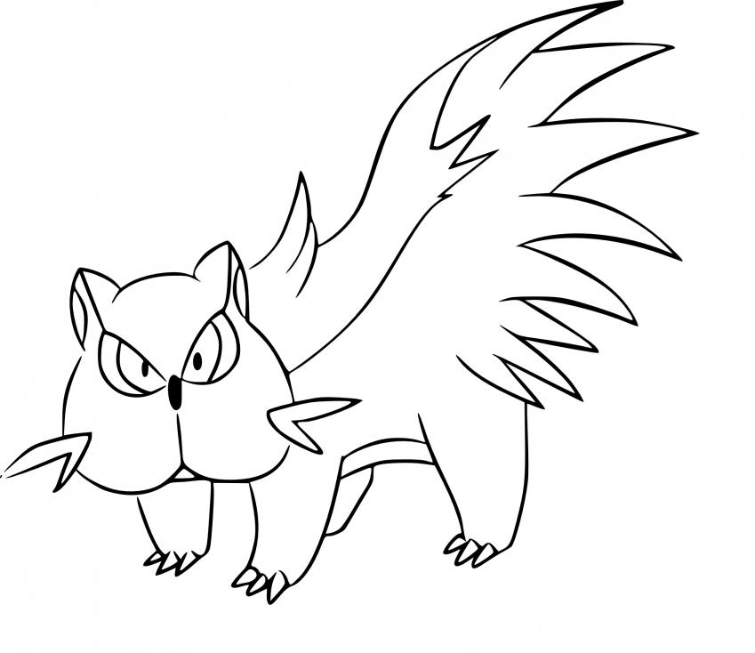 Coloriage Moufouette Pokemon
