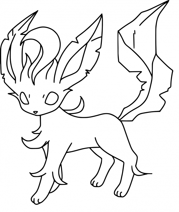 Coloriage Phyllali Pokemon