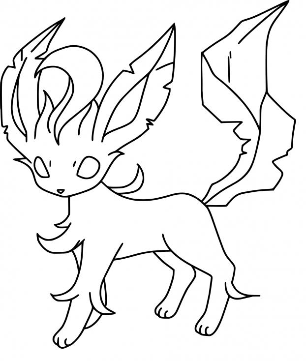 Coloriage Phyllali Pokemon