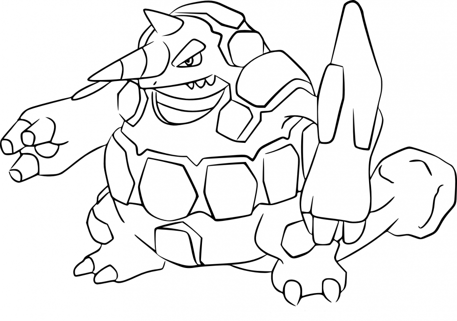Coloriage Rhinastoc Pokemon