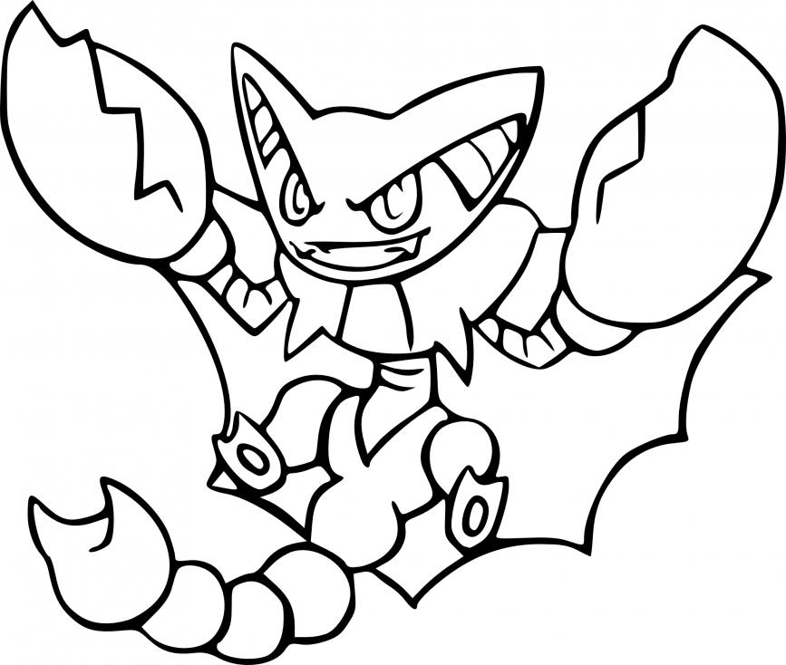 Coloriage Scorvol Pokemon