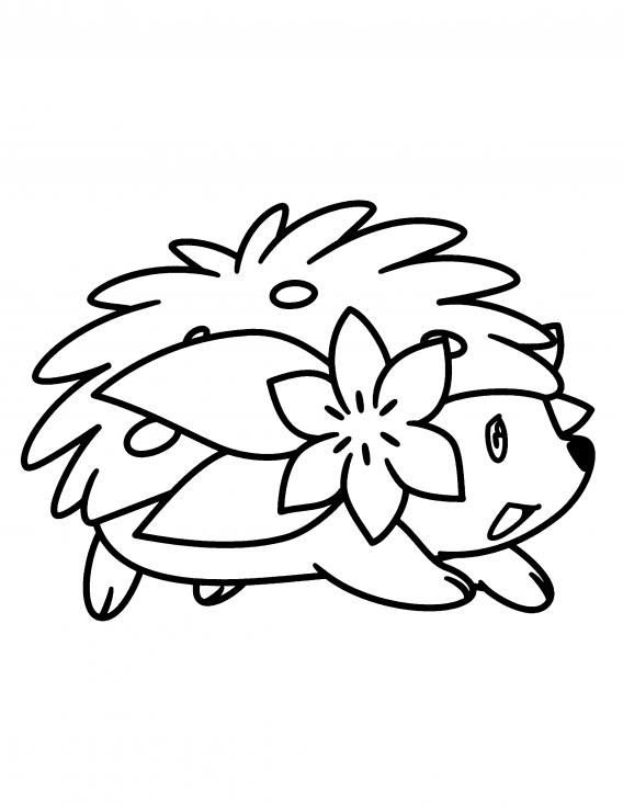 Coloriage Shaymin Pokemon