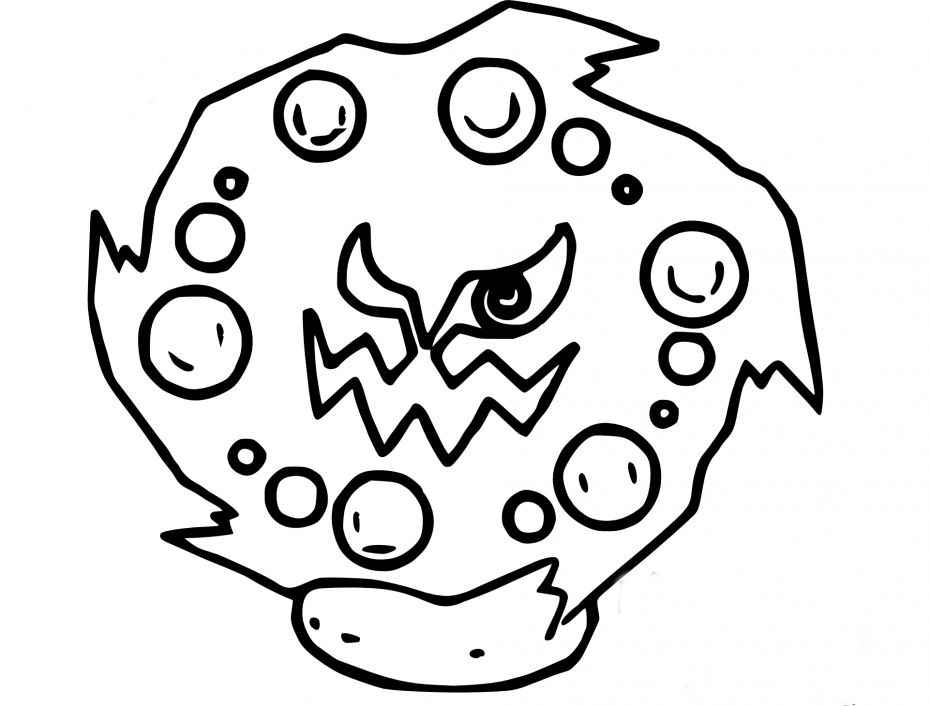 Coloriage Spiritomb Pokemon