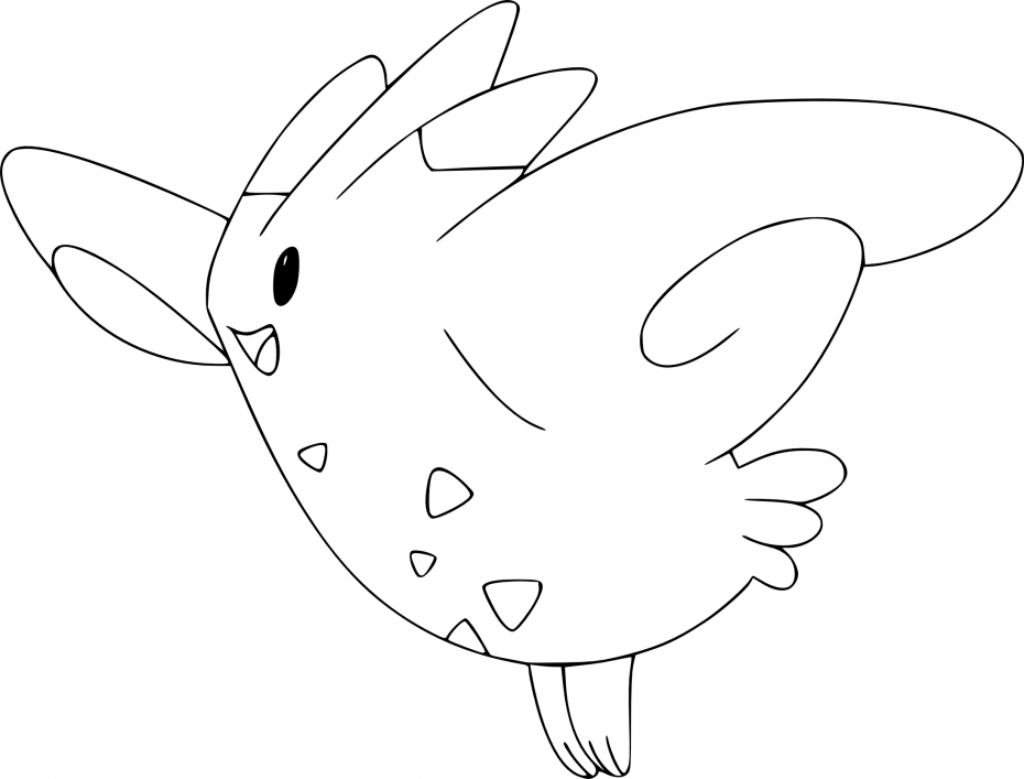 Coloriage Togekiss Pokemon