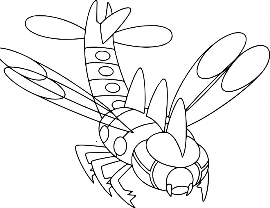 Coloriage Yanméga Pokemon