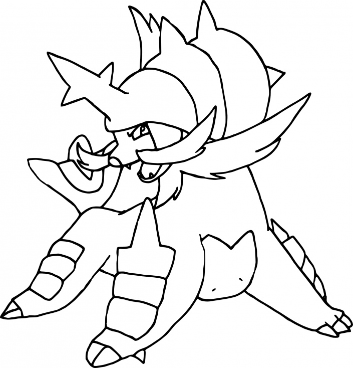 Coloriage Clamiral Pokemon