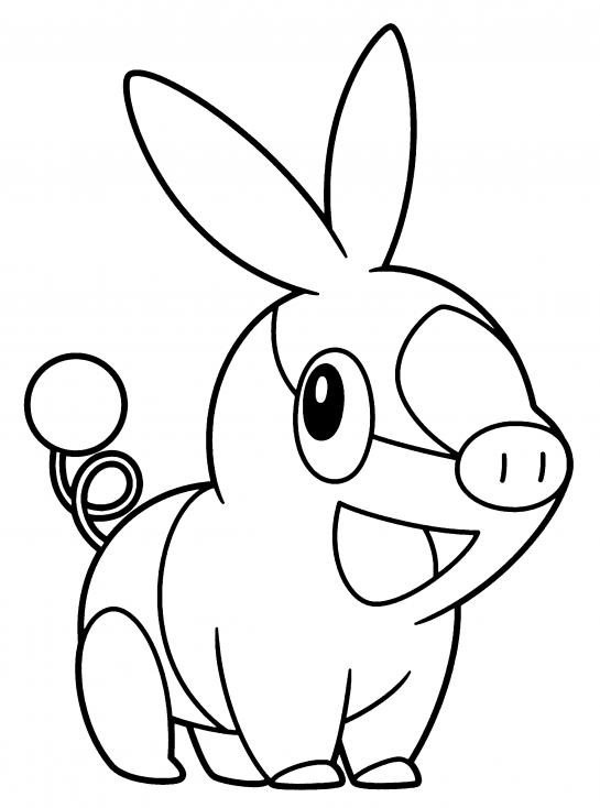 Coloriage Gruikui Pokemon