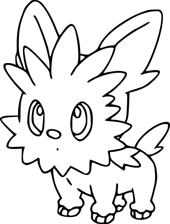 Coloriage Ponchiot Pokemon