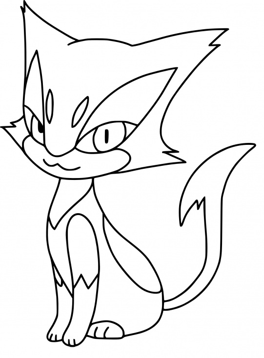 Coloriage Chacripan Pokemon