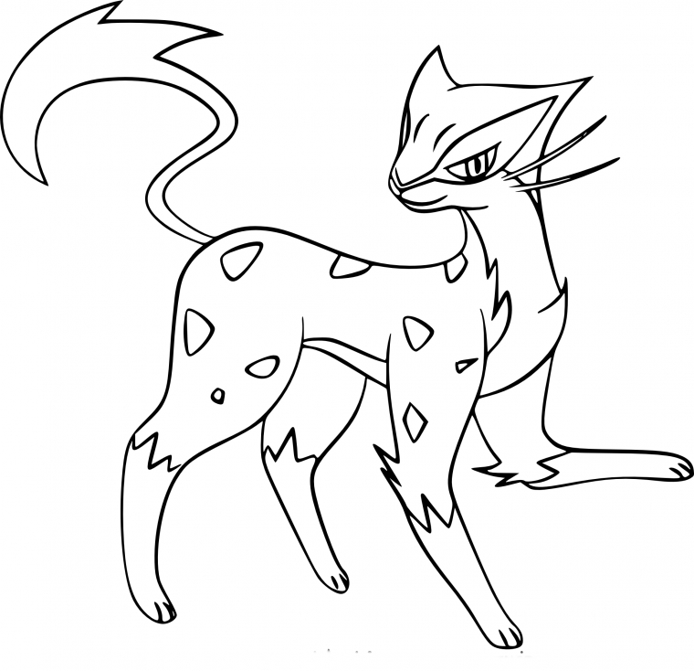 Coloriage Léopardus Pokemon