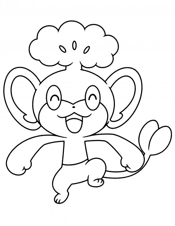 Coloriage Feuillajou Pokemon