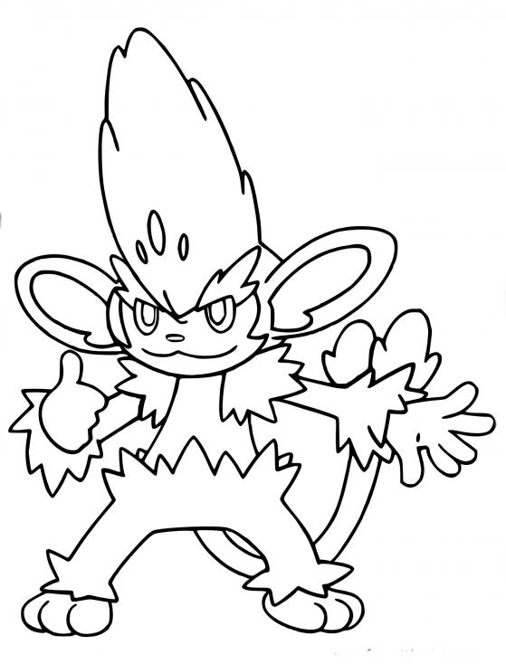 Coloriage Feuiloutan Pokemon