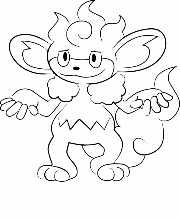 Coloriage Flamoutan Pokemon