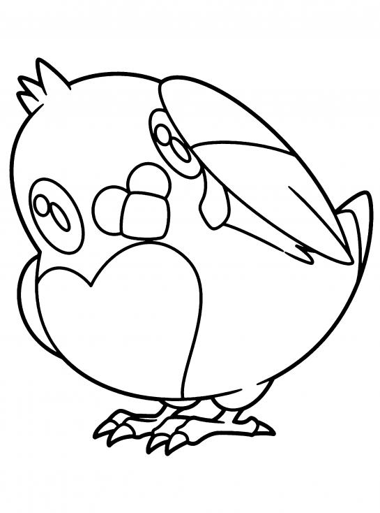 Coloriage Poichigeon Pokemon