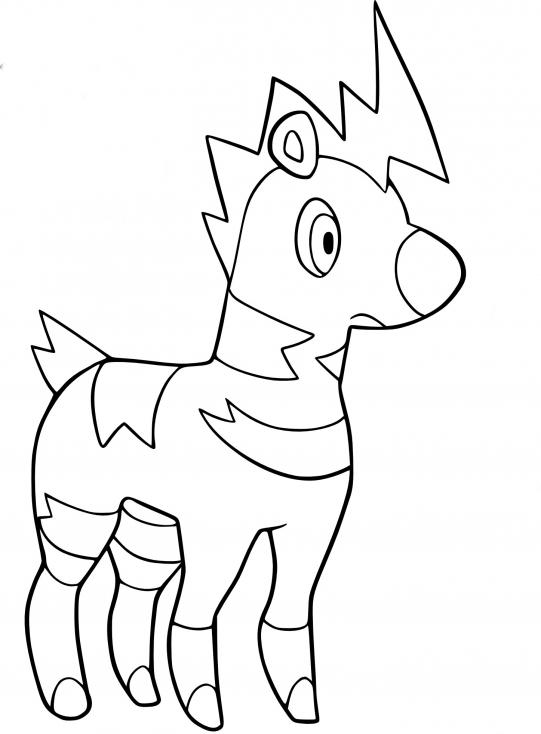 Coloriage Zébibron Pokemon