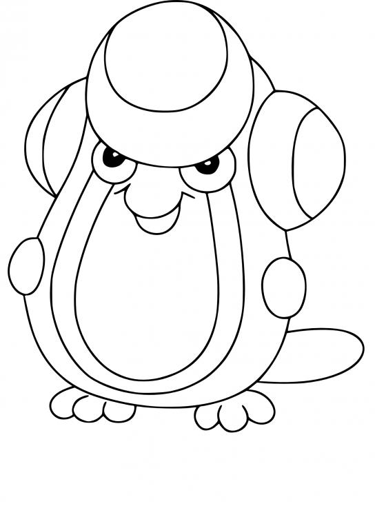 Coloriage Batracné Pokemon