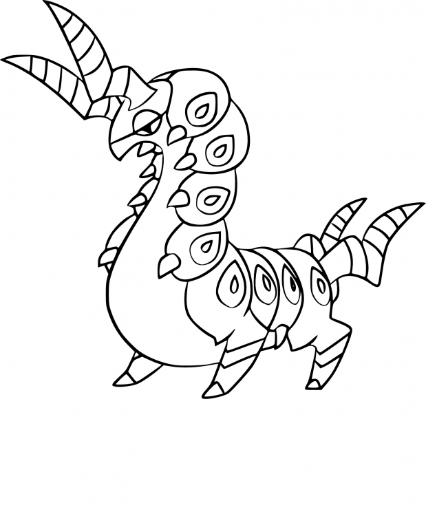 Coloriage Brutapode Pokemon