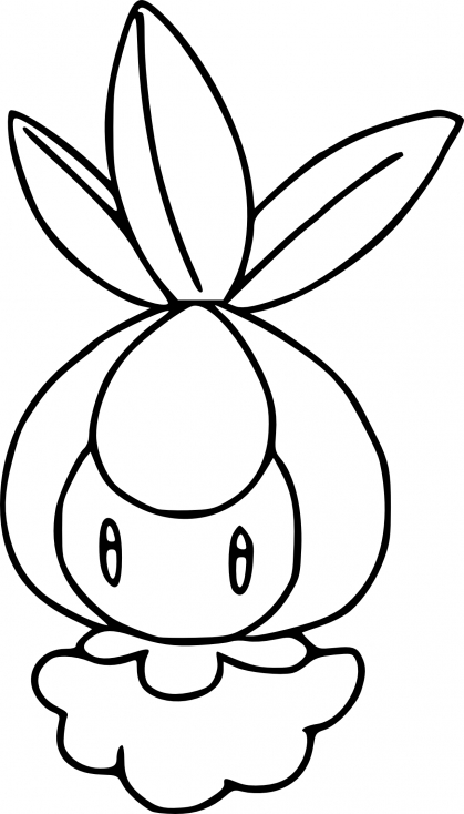 Coloriage Chlorobule Pokemon