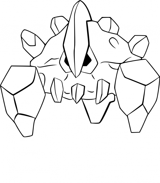Coloriage Géolithe Pokemon