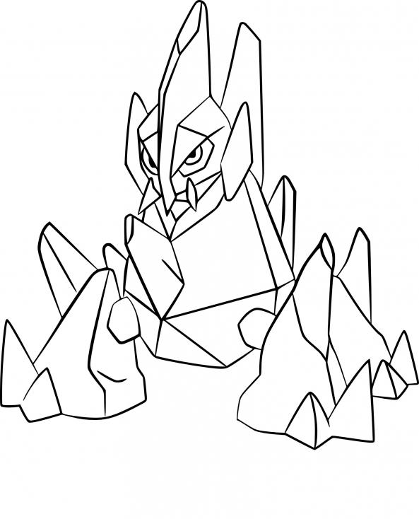 Coloriage Gigalithe Pokemon