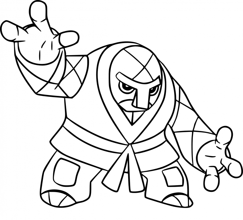Coloriage Judokrak Pokemon